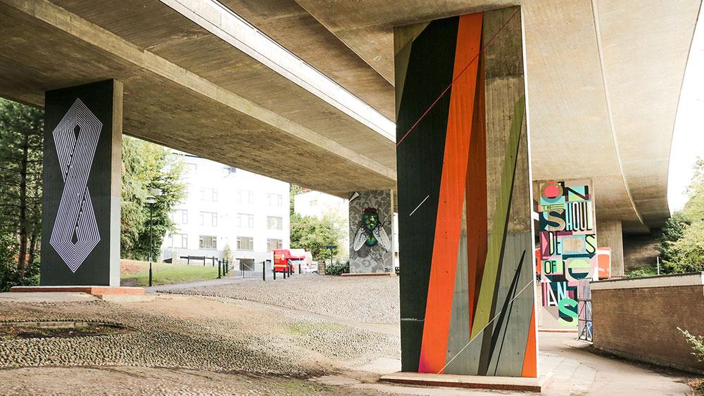 Street art gallery underpass
