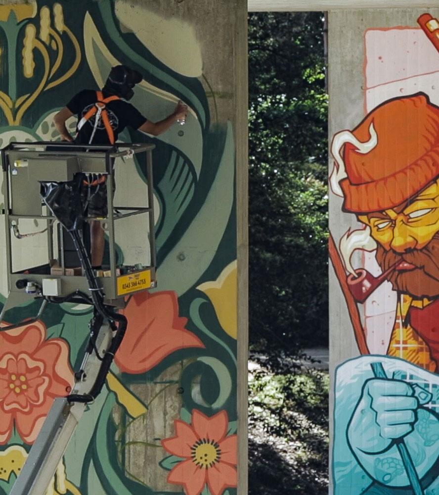 Street art at Upside Gallery