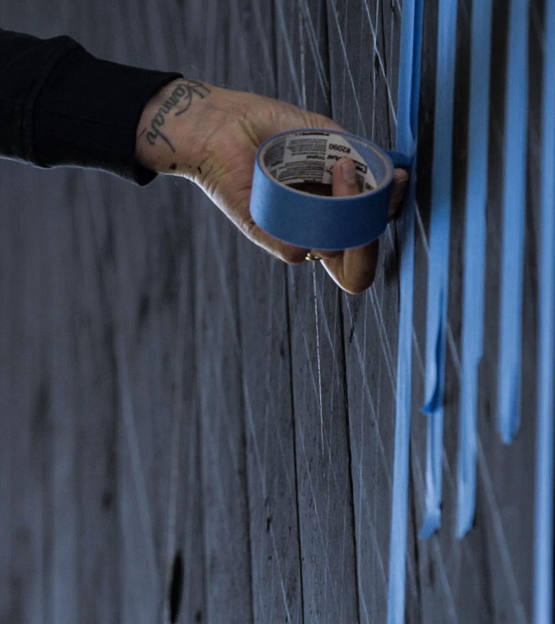 Upside Gallery_Gary Stranger graffiti artist close up of hand