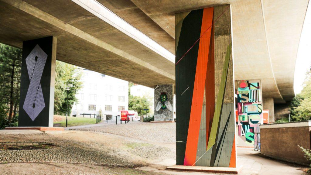Graffiti artist Remi Rough mural at Upside Gallery