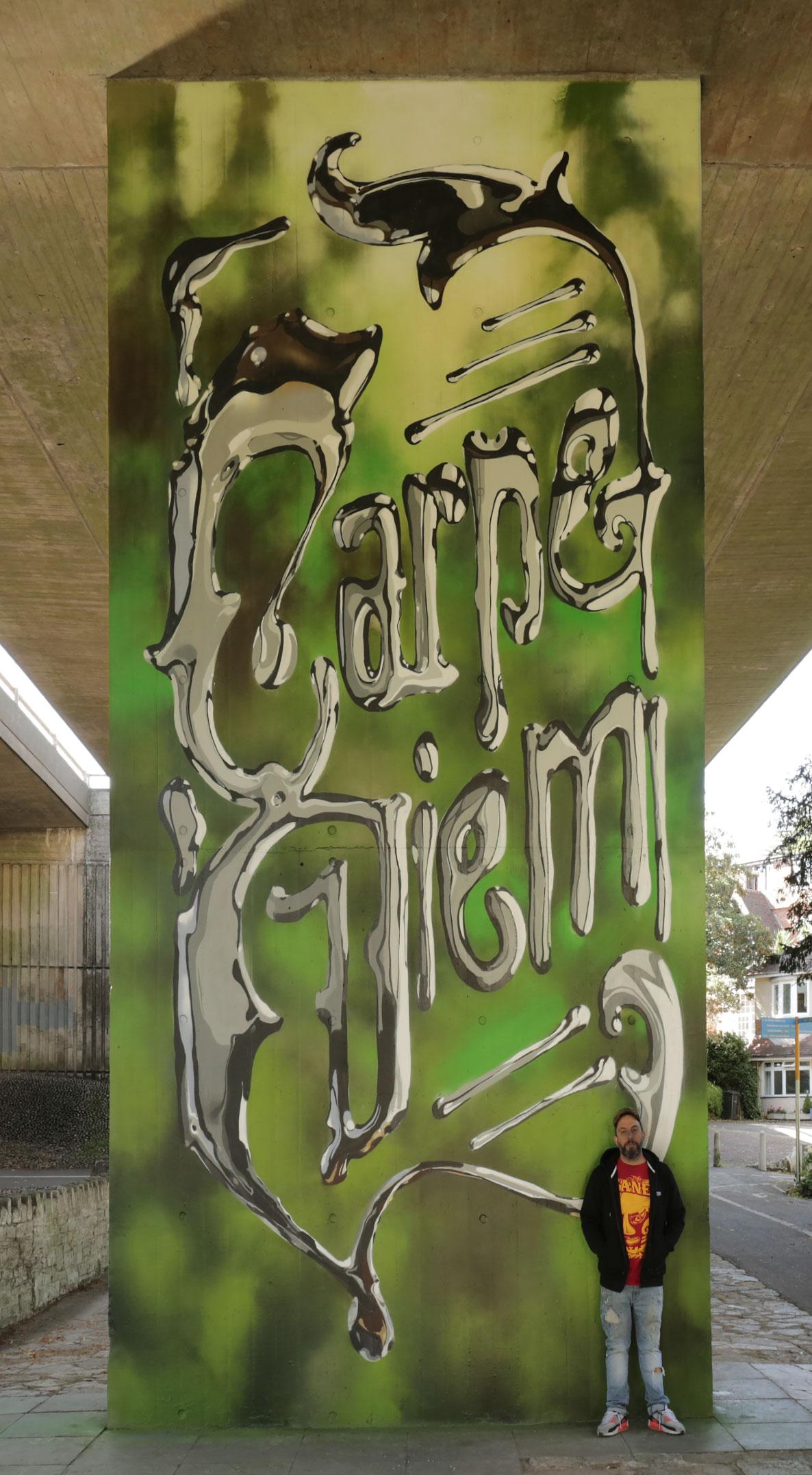 Dave Bonzai mural Upside Gallery